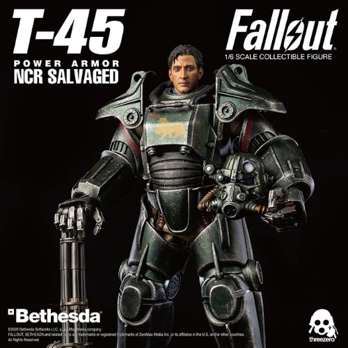 [3ZERO] 폴아웃 - T-45 NCR 샐비지드 파워 아머 1/6 스케일 Fallout – T-45 NCR Salvaged Power Armor 1/6 Figure